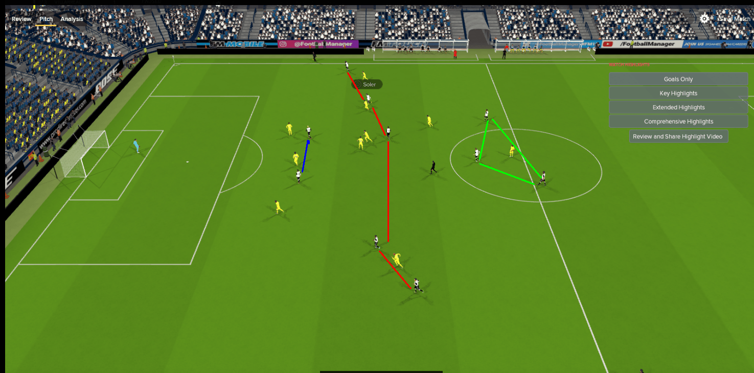 The dynamic shape of the formation when the team attacks