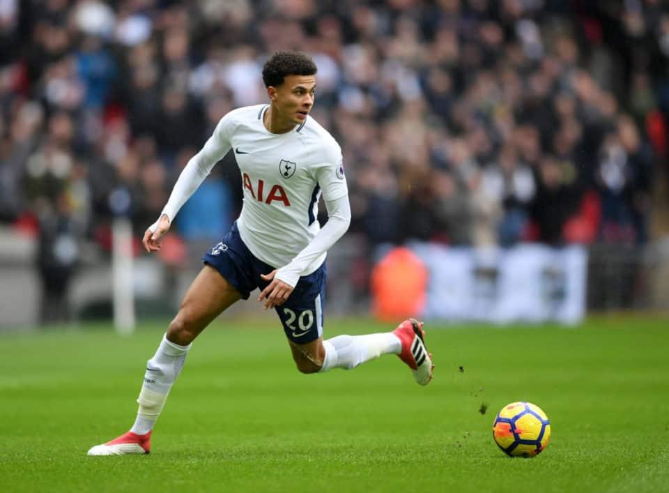 Dele Alli in action for Tottenham